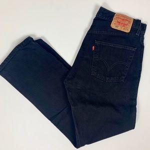 Men's Levi's 501 Black Denim Pants 32x32